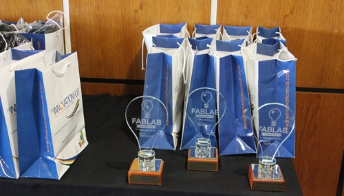 The FabLab winners' trophies