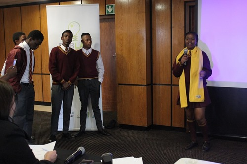 Some of the young people pitching their technology