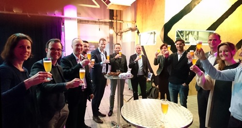A toast with some of the IADP Associates