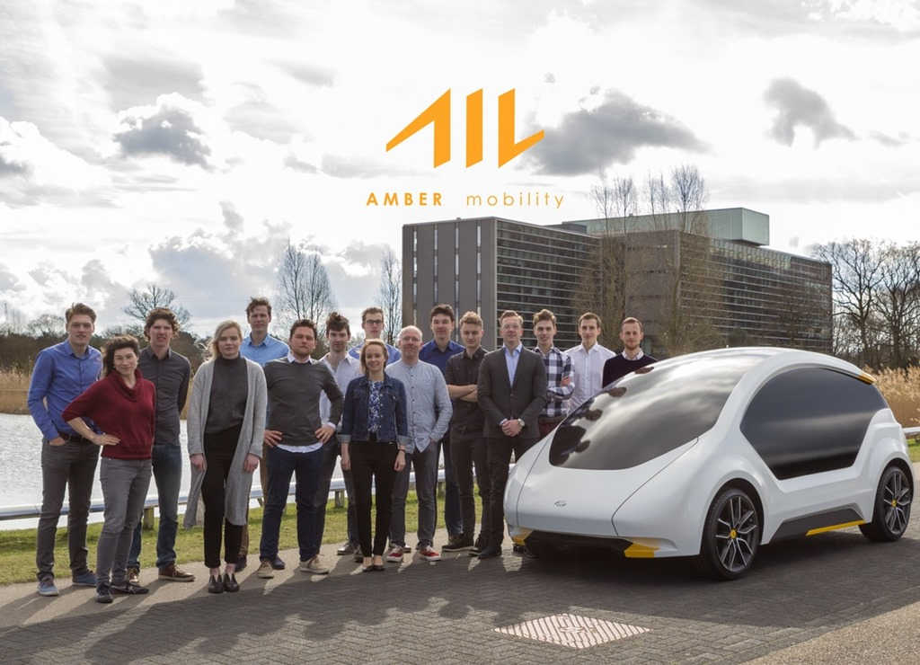 Amber Mobility with one of their electric cars