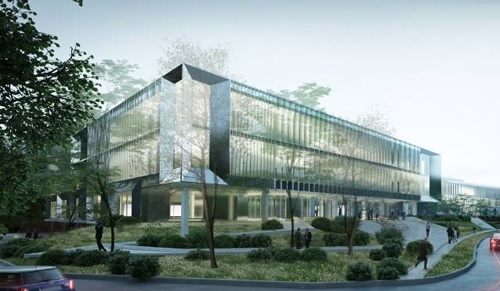 Architect's drawing of the new biohub
