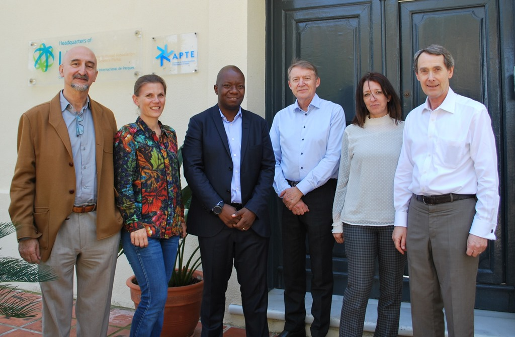 From left to right: L Sanz, E Lund, M Sibanda, J Annerstedt, Sonia Palomo, David Rowe