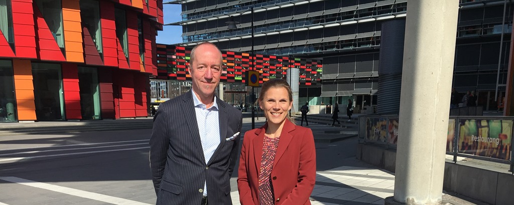 Ebba Lund with Lindholmen CEO Tord Hermansson