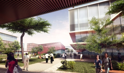 Architect's image of Konza Technopolis