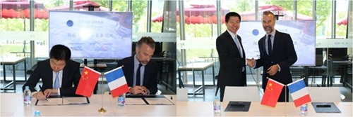 Haofeng Lai and Javier Gimeno sign the MoU