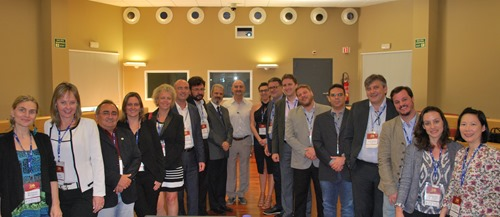 The Brazilian delegation with IASP Director General Luis Sanz and Anprotec President Jorge Audy