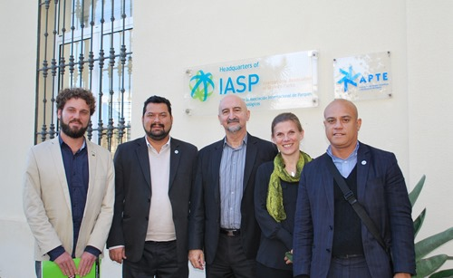 The Codemar delegation with IASP DG Luis Sanz and COO Ebba Lund