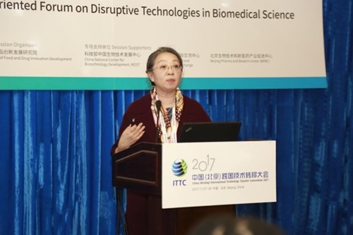Zhang Xiuying (Zhongguancun Haidian Science Park) addresses the forum