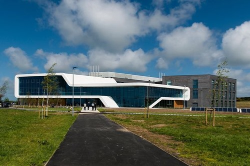 A view of Menai Science Park's innovative architecture