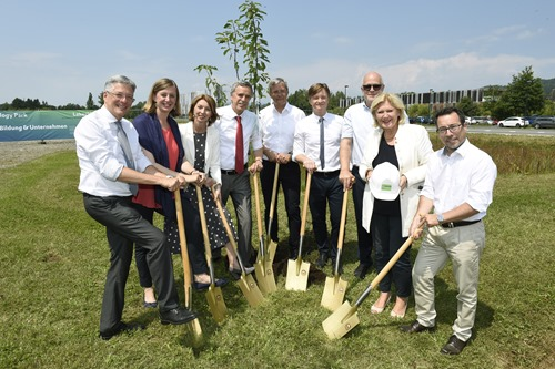 Groundbreaking on phase 5 construction at Lakeside Science and Technology Park