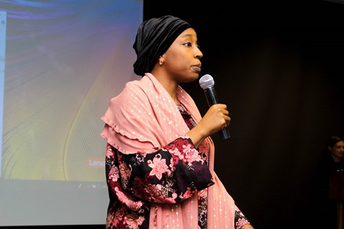 Hauwa Yabani addresses delegates