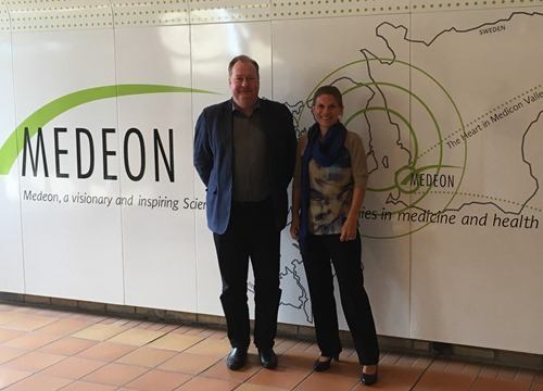 Medeon CEO Ulf Andersson with Ebba Lund