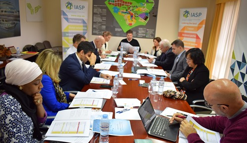 Members of the International Board during the meeting
