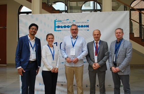 IASP members from Luxembourg, Iceland, Bulgaria and Estonia with COO Ebba Lund