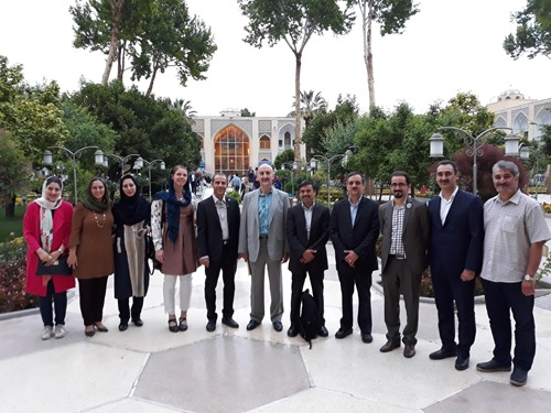 Some of the IASP Isfahan Steering Committee in front of the Abassi Hotel
